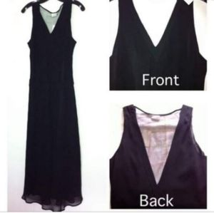 🆕️Long black dress gown wedding prom gala